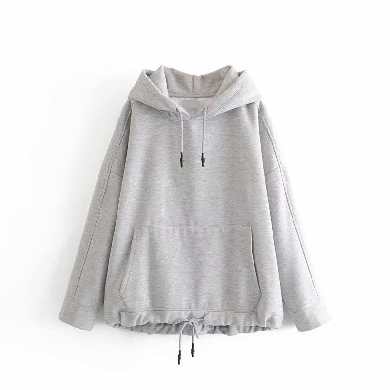 Women Basic Solid Hoodies Jacket Casual Hoody Sweatshirts Streetwear Bomber Kangaroo Pocket Hoodies Top Coat Bottom-in Hoodies & Sweatshirts from Women's Clothing on Aliexpress.com | Alibaba Group