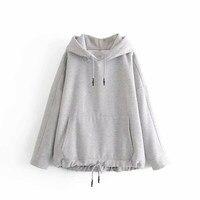 Women Basic Solid Hoodies Jacket Casual Hoody Sweatshirts Streetwear Bomber Kangaroo Pocket Hoodies Top Coat Bottom
