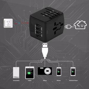 Image 2 - Универсальный адаптер зарядного устройства FORNORM для путешествий, адаптер с 4 USB разъемами по всему миру, электрическая розетка, вилка стандарта США, Великобритании, ЕС, Австралии для путешествий
