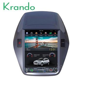 "Krando Android 8.1 10.4"" Vertical screen car multimedia player GPS for Hyundai IX35 Tucson 2009-2014 radio audio system"