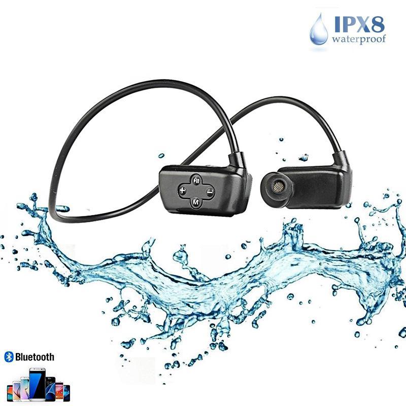 Newest 16G MP3 Bluetooth 5 0 MP3 Earphone IPX8 Waterproof Professional Swimming Sport Headphone Phone Recording