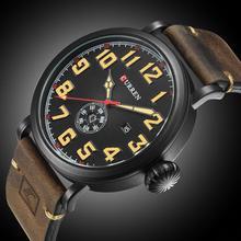 Curren 8283 Mens Watches Top Brand Luxury Black Leather Strap Waterproof Men Quartz Watch Casual Sport Male Clock Wristwatches стоимость