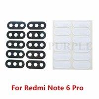 Lente de 100 unids/lote para Xiaomi Redmi Note 5 lente de cámara trasera de cristal para mi Red mi note5/Note 6 Pro con adhesivo