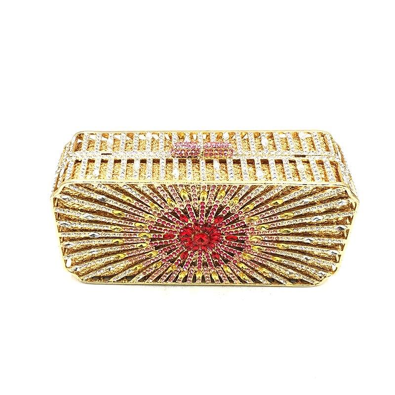 Diamants Pictures Femmes Send Cristal 1 Sac Embrayages Soirée Bourse Élégant De Mariage Gold Mariée Luxe Boîte Accessoires Portefeuille color Y6HqxZA