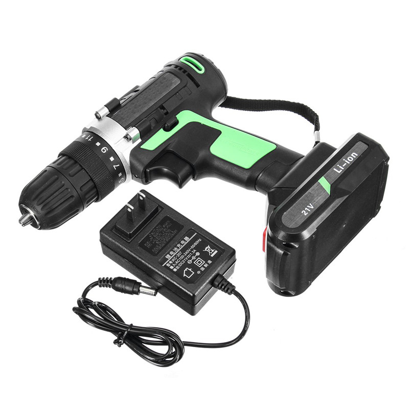 21V Electric Screwdriver Multi Function Rechargeable Mini Drill Power Tools Home Cordless Lithium Rechargeable Screwdriver