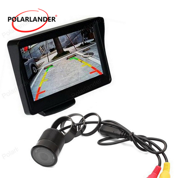 free shipping ,4.3 Inch Pocket-sized TFT LCD Color Display Monitor with 8LED Rearview Car Camera night vision