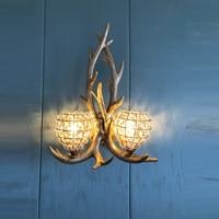 Koffie winkel Land Vintage LED wandlamp Kristal Wandlamp voor Ballroom Classic Wandlamp Bar woonkamer Hal blaker-in Wandlampen van Licht & verlichting op
