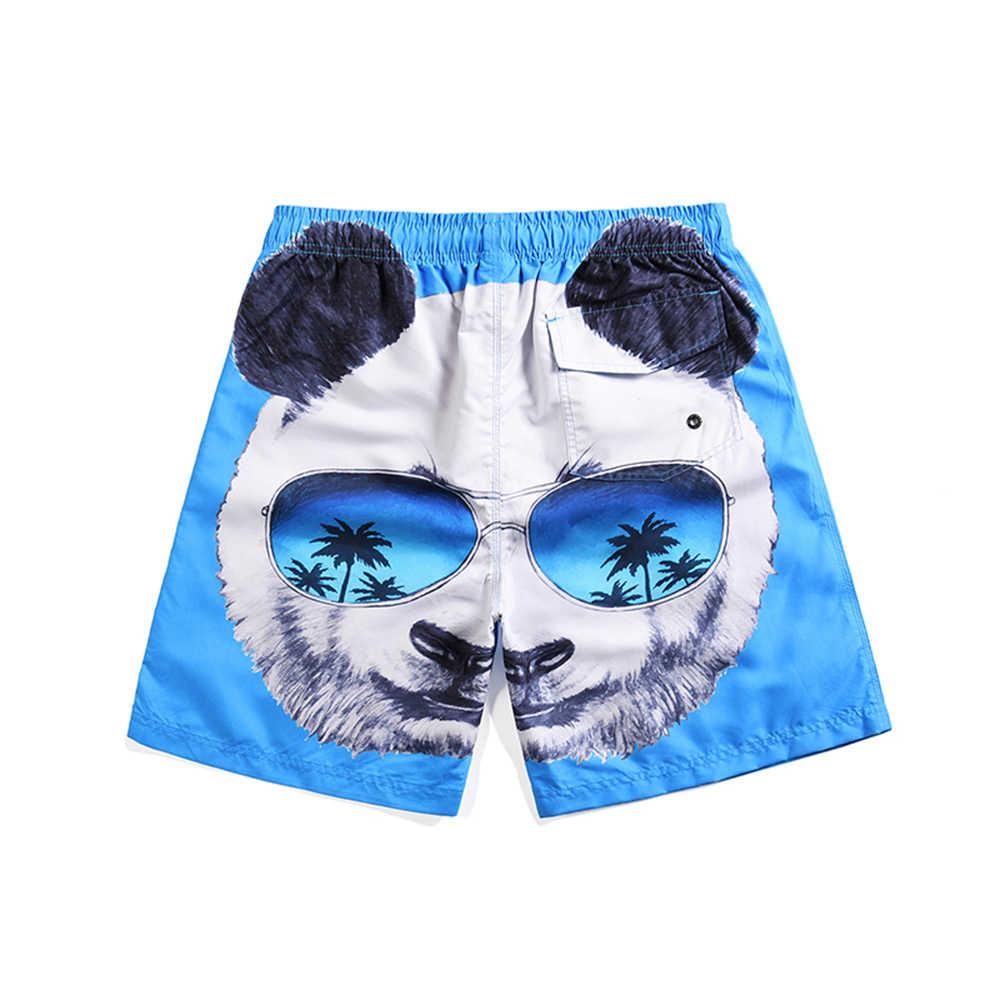 Panda Pola Pria Pantai Celana Pendek Renang Pakaian Renang Olahraga Berselancar Pendek De Bain Homme Baju Renang Berenang Pendek Batang