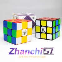 Dayan Würfel Zhanchi 2018 57mm 3x3x3 Zauberwürfel Geschwindigkeit Zhanchi57 Cubo Magico 3x3 professionelle Stickerless Schwarz spielzeug für kinder