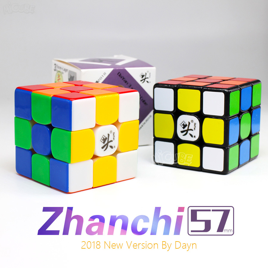 Dayan Cube Zhanchi 2018 57mm 3x3x3  Magic Cube Speed Zhanchi57 Cubo Magico 3x3 Professional Stickerless Black  Toys For Children