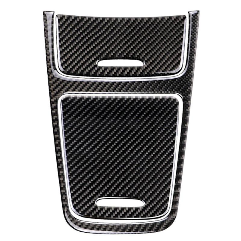 Autocollants de panneau de commande Central en Fiber de carbone décoration garniture bâches de voiture pour Mercedes classe A Cla Gla 2013-2018 accessoires