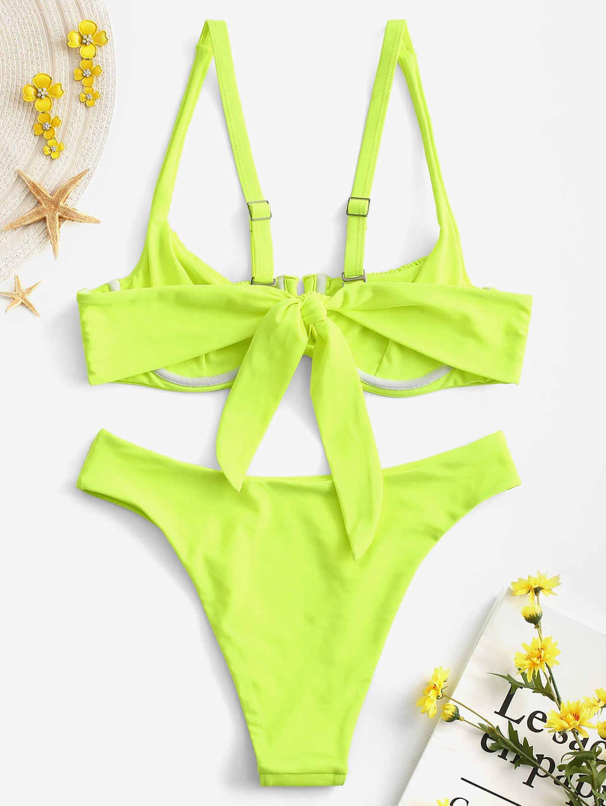 Marszczonej fiszbiny Balconette Bikini Set