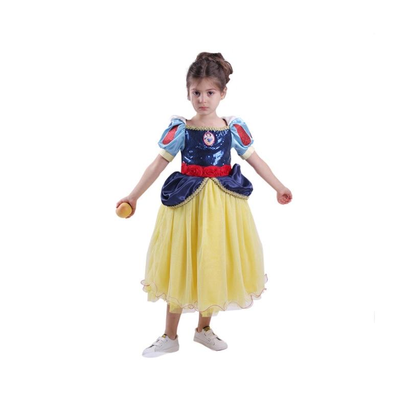 Children Cosplay Dress Snow White Girl Princess Halloween Purim Costume Sets