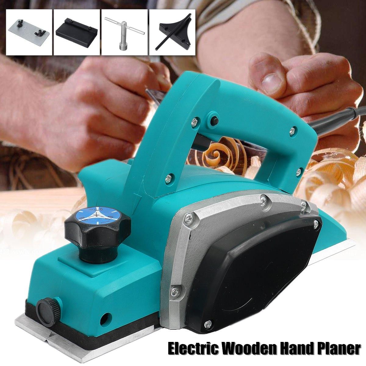 220V/110V 1000W Electric Planer Powerful Wooden Handheld Planer Carpenter Woodworking File Tool Home DIY Power Tools Kit