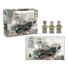 hot LegoINGlys military WW2 US Army vehicles Landing North Africa war Building Blocks model mini soldier figures brick toys gift