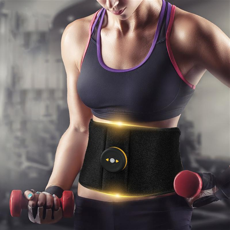Muscle Vibration Abdominal Fitness Trainer Massager Waist Support EMS Fat Burning Stimulator For Body Slimming Belt Weight Loss