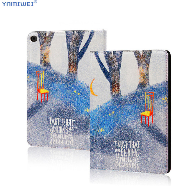 Magnet Cases For iPad Air 2 Air 1 Case Colorfull Print Stand Pu Leather Smart Case For ipad 9.7 2018 Funda Cover +Films