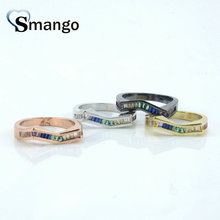 5Pieces,Women Fashion Jewelry,The Rainbow Series M Shape Rings 4Colors, Can Mix Color  Wholesale