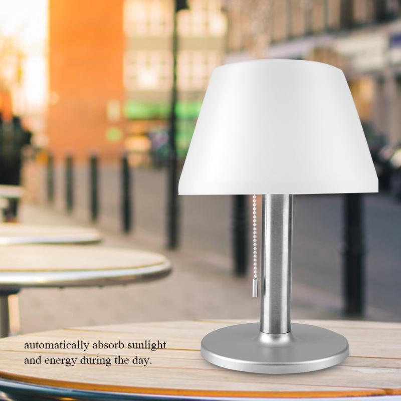 LED Solar Power Light Desk Lamp Cafe Table Lamp Waterproof