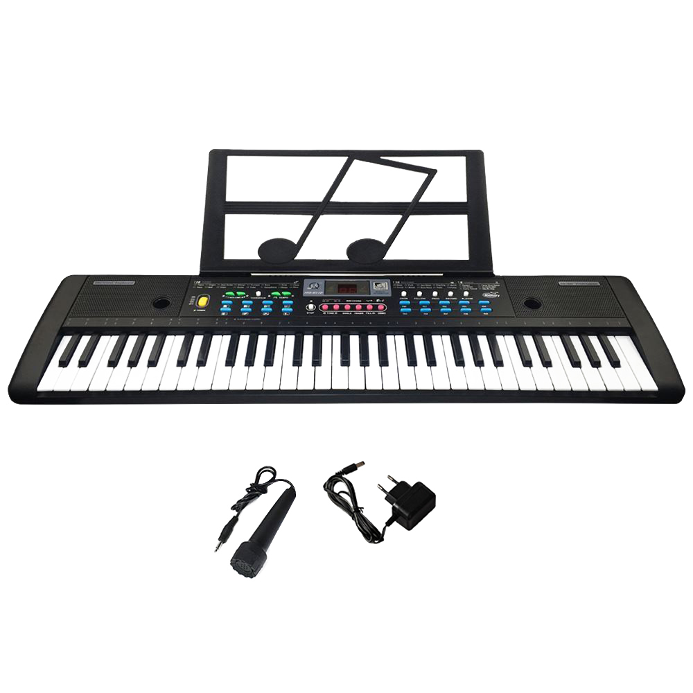 61 Keys Digital Electronic Keyboard And Microphone Electric Led Musical Instruments Digital Piano Controller Accessories For Kid