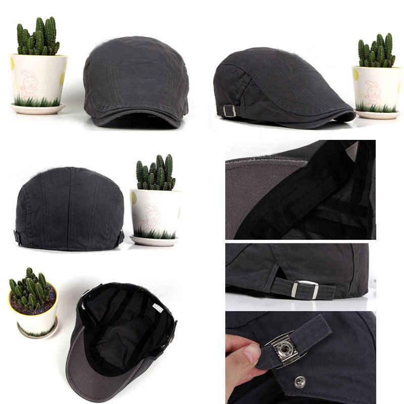 440de8ec24c ... Hot Sale Unisex Men Woman Cotton Gatsby Cap Golf Driving Flat Cabbie  Beret Newsboy Hats ...
