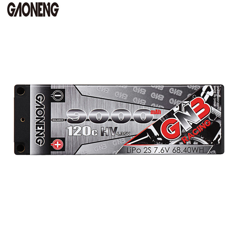 Gaoneng GNB 7.6V 9000mAh 120C 2S HV 4.35V Lipo Battery T Plug for 1/5 1/8 2WD 4WD Monster Truck Traxxas TRX 4 RC Car Spare Parts