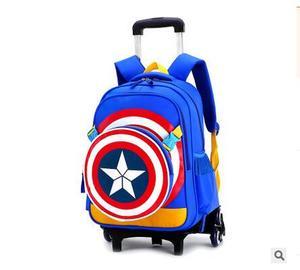 Image 2 - Travel bags for kid Boys Trolley School backpack wheeled bag for School Trolley bag On wheels School Rolling backpacks