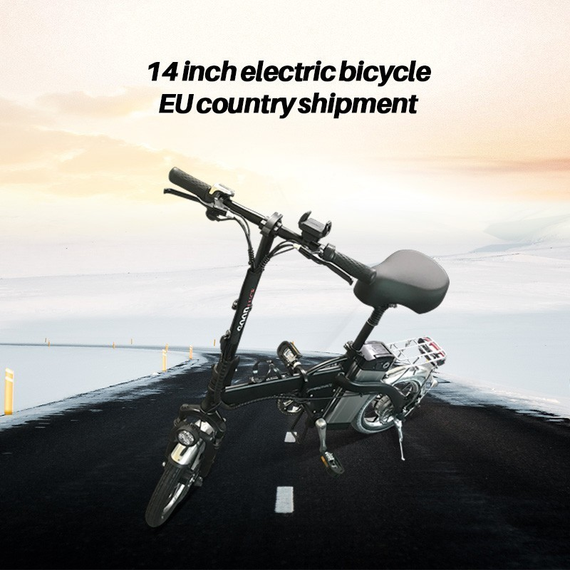 mini electric bike 14-inch power folding scooter adult small generation drive electric bicycle lithium battery electric bike
