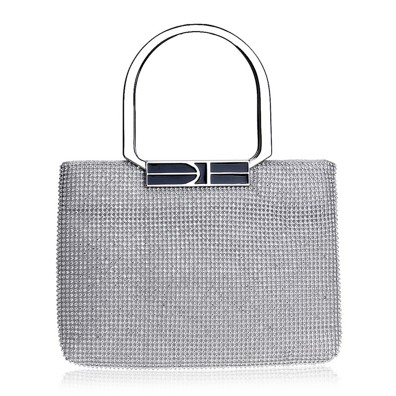 Purse Handbags Wedding-Bag Crystal Rhinestones Evening Women Handle-Holder Day-Clutch