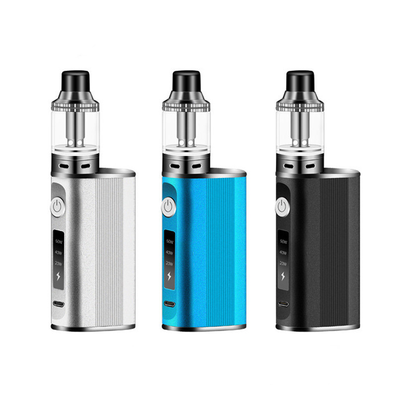 Electronic Cigarette Mods Kit Built-In 1500Mah 60W Kit E-Cigarettes 2.0Ml Atomizer Hookah Vape Pen Kit