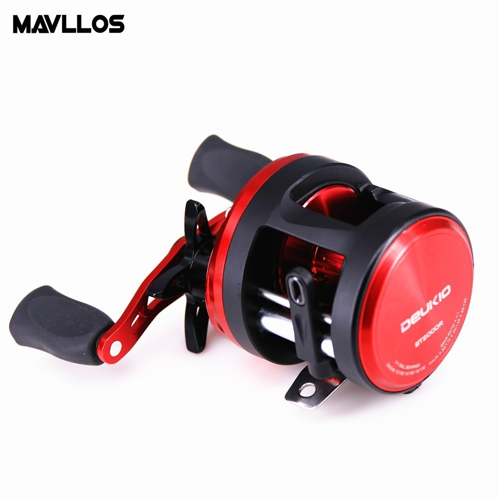 Mavllos DEUKIO Round Casting Reel 9BB Ratio 4 7 1 Magnetic Brake Single Knob Soft Silcon