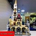 4160 pcs Building Block Il Castello Blocco Castello di Alta Qualità RIZ-ZOAWD Ortografia Inserto Giocattoli di Montaggio 16008 2018 Nuovo