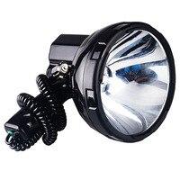 JUJINGYANG высокопроизводительный Ксенон лампа Открытый Ручной Охота рыболовный патрульный автомобиль 220 Вт h3 HID прожекторы круглый прожектор 12