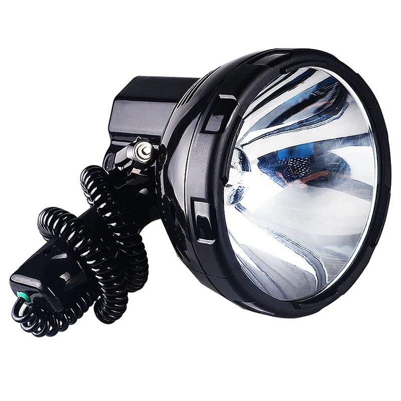 JUJINGYANG Haute puissance lampe au xénon en plein air de poche chasse pêche patrouille véhicule 220 W h3 HID projecteurs hernie projecteur 12 v