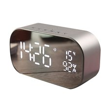 Led Alarm Clock With Fm Radio Wireless Bluetooth Speaker Support Aux Tf Usb Music Player Wireless For Office Bedroom цены онлайн