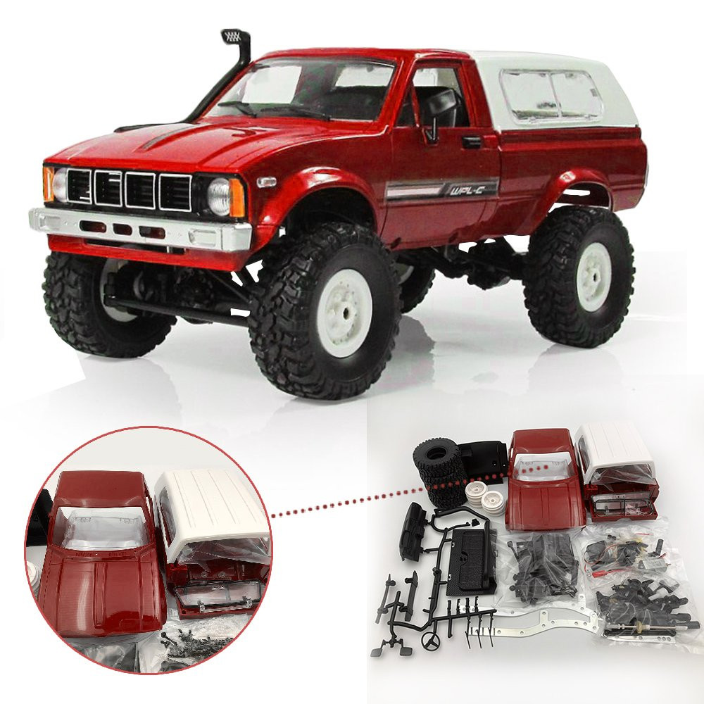 <font><b>WPL</b></font> C-24 <font><b>C24</b></font> 1/16 4WD 2.4G Military Truck Buggy Crawler Off Road RC Car 2CH RTR Toy Kit Without Electric Parts image