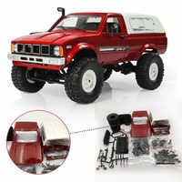 WPL C-24 C24 1/16 4WD 2,4G Camión Militar cochecito crawler fuera de la carretera coche de RC 2CH RTR Kit de juguete sin piezas eléctricas