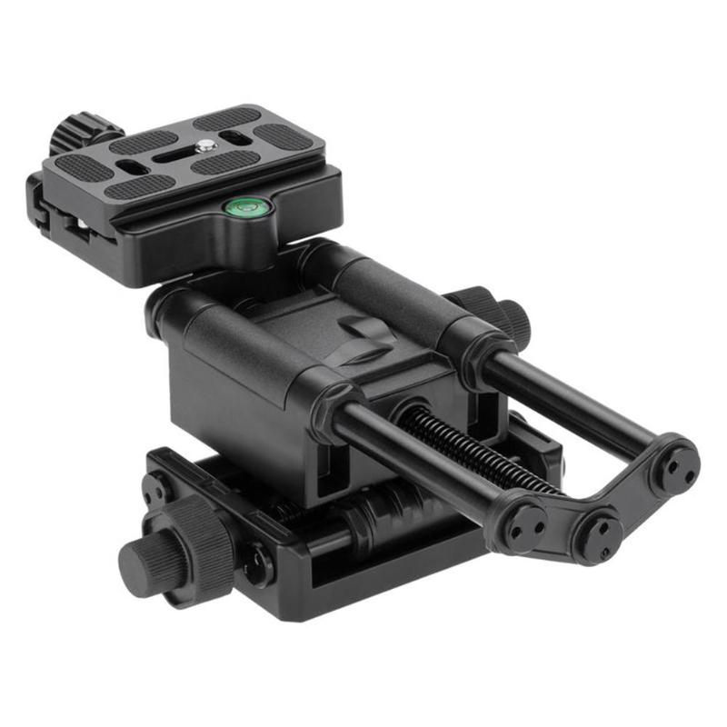VODOOL 4 Way Tripod Macro Focusing Rail Slider with Quick Release Clamp 1 4 Screw for