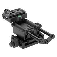 VODOOL 4 Way Tripod Macro Focusing Rail Slider with Quick Release Clamp 1/4 Screw for Canon Sony Pentax Nikon Camera Tripod Head