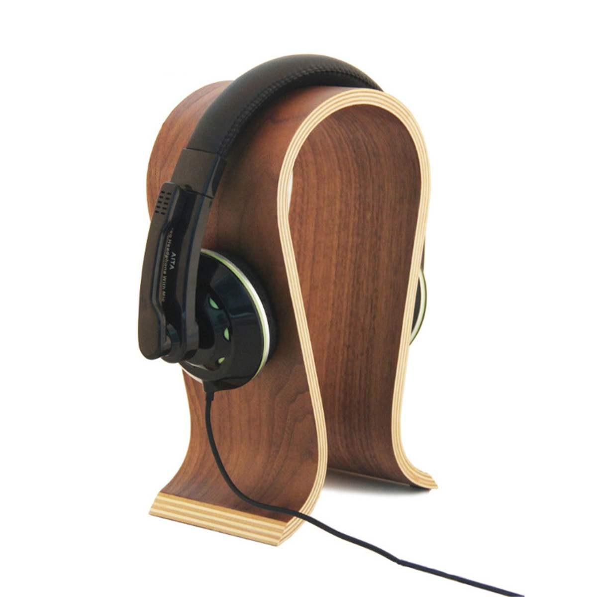 U Shape Acrylic Headphone Stand Headset Holder Display Rack Bracket Hanger Shelf