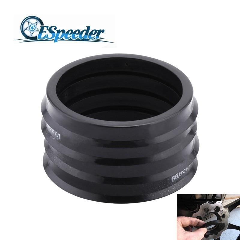 ESPEEDER 4PCS Car Wheel Bore Center Collar Hub Centric Rings Wheel Hub Rings 66.6-57.1mm For AUDI VW Mercedes