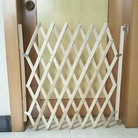 1xFolding Cat Pet Dog Barrier Wooden Safety Gate Expanding Swing Puppy Fence Door Baby Protection Pet Isolation Wooden Fence