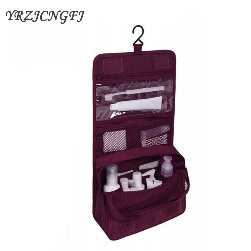 Waterproof Portable Polyester Travel Cosmetic Bag Neceser Hanging Wash Bag Neutral Make Up Bag Organizer Bathroom Wash Bag