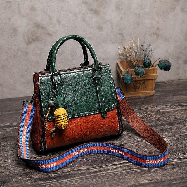 5a85b981463a 2019 винтажная сумка из натуральной кожи, роскошные сумки, женские сумки,  дизайнерские женские сумки через плечо, женская сумка на плечо