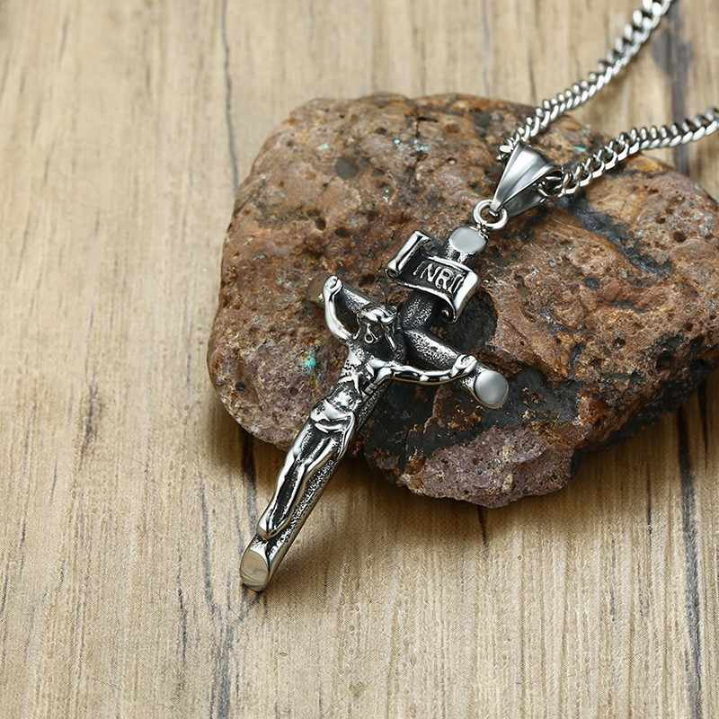 Detail Feedback Questions about Vantage Mens Crucifix Necklace