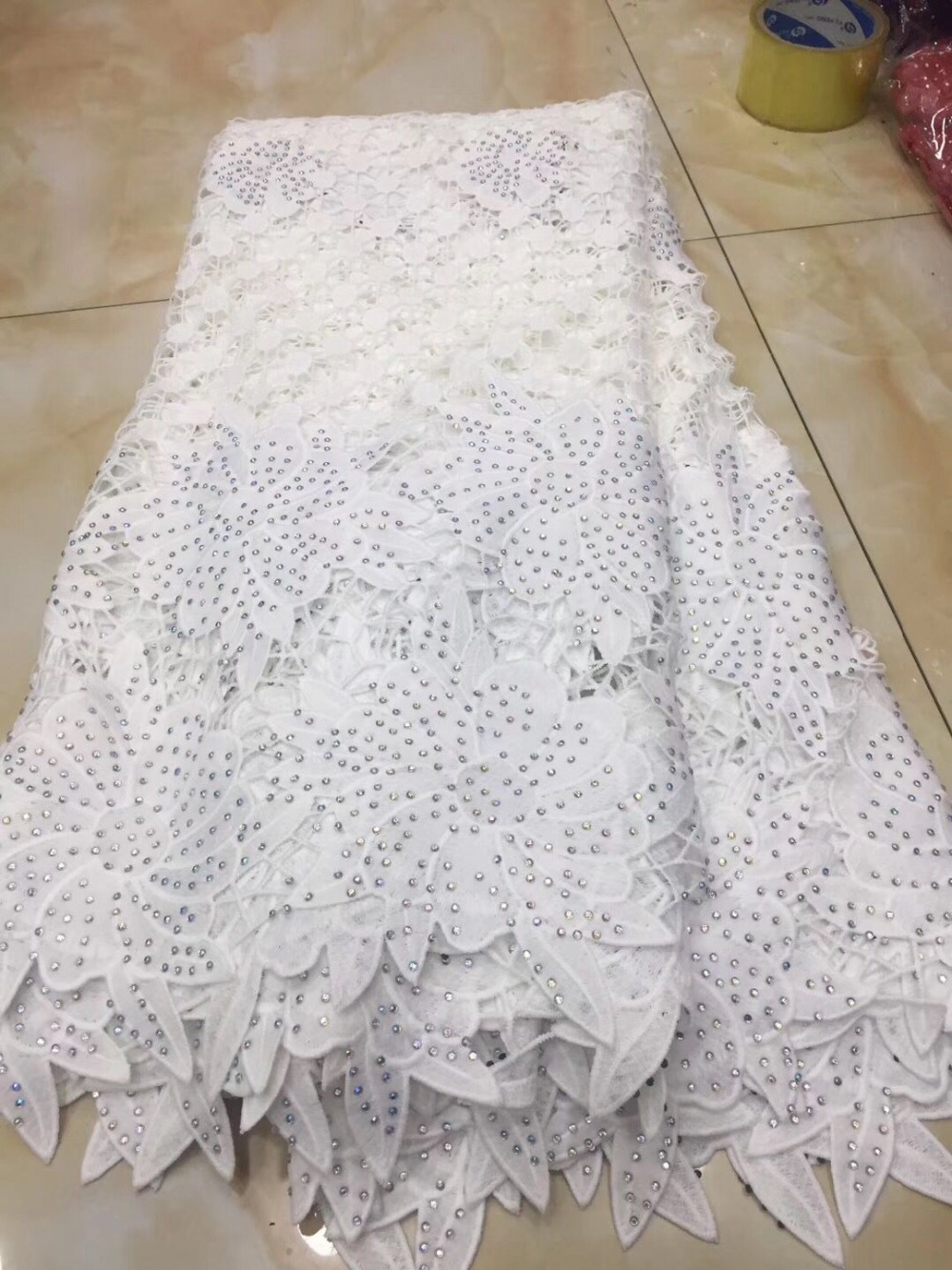 White african cord lace fabrics high quality for women dress 2018 latest guipure lace fabric with