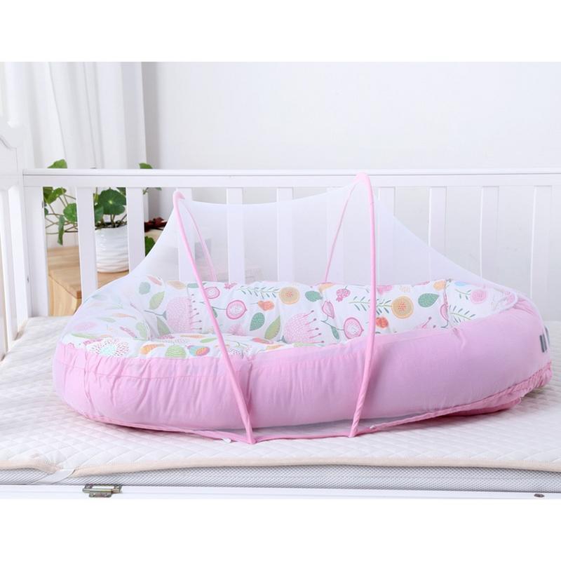 Lit bébé nid berceau Portable amovible et lavable lit de voyage pour enfants bébé enfants berceau en coton pliant lit bébé - 4