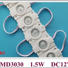 Высокояркий водонепроницаемый впрыск высокой мощности 1,5 Вт Светодиодный модуль лампа светильник рекламный светильник с объективом 12 в 1 светодиодный 42 мм* 30 мм CE ROHS