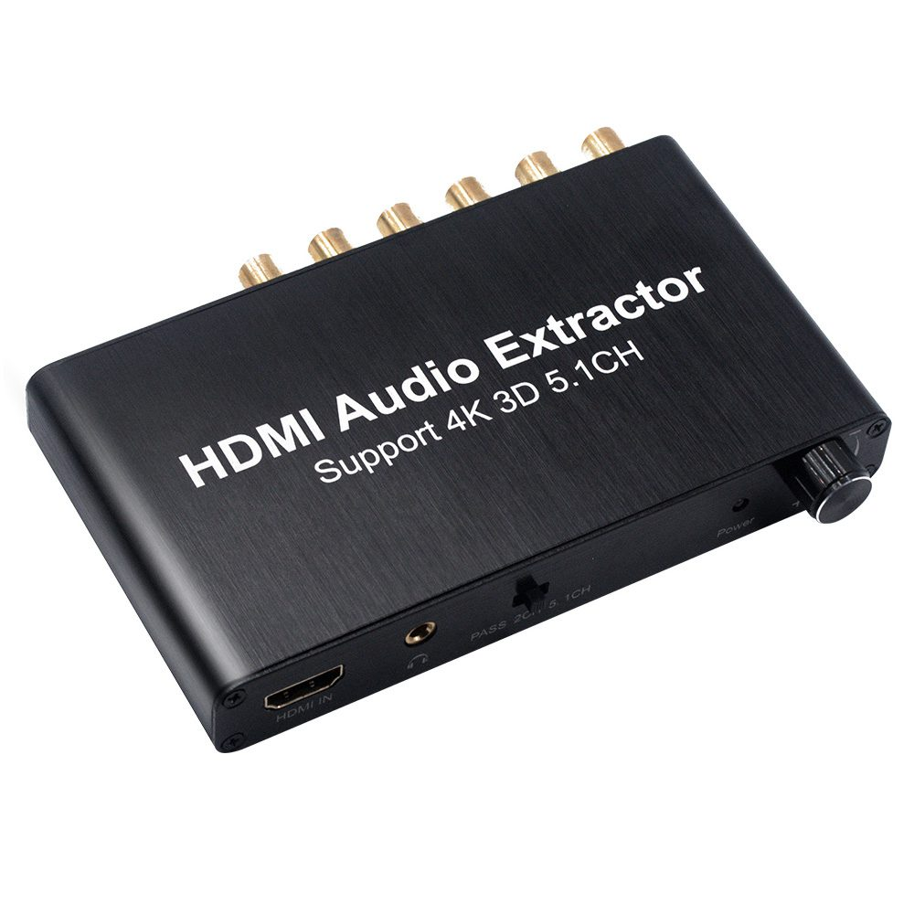 HDMI Audio Decoder HDMI 5.1 Audio Decoder Do lby 4K 3D 13.7 x 7.7 x 2cm danjue серый 19cm x 9cm x 2cm