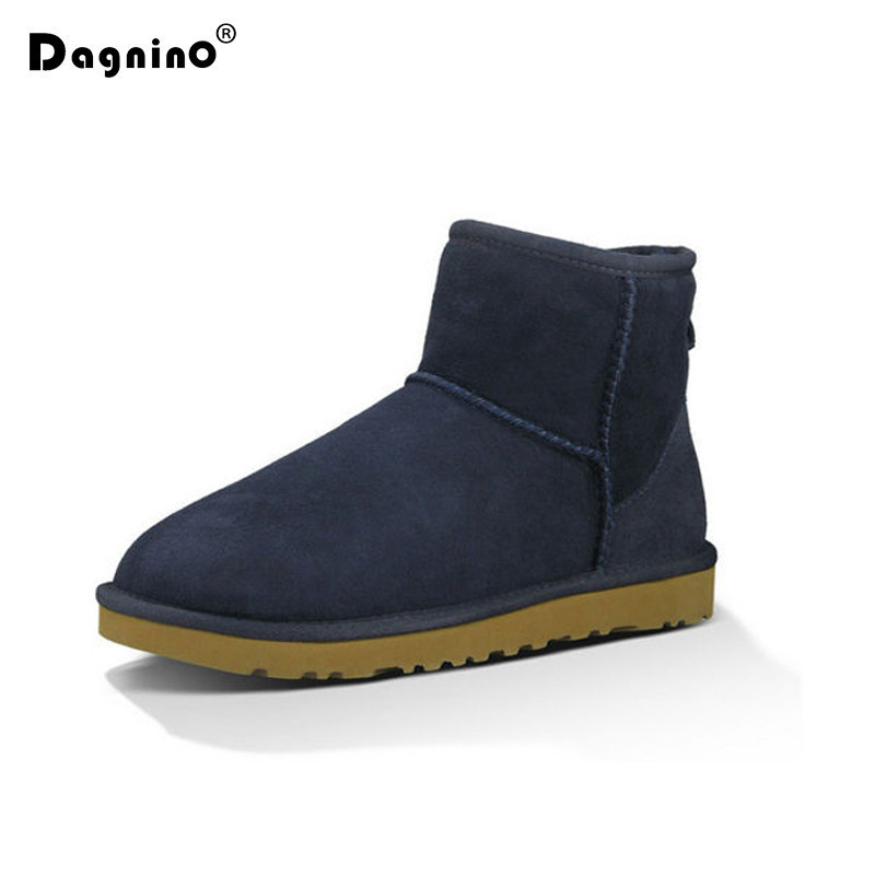 DAGNINO Winter Shoes Woman Natural Fur Leather Brand Ankle Boots Australia Sheepskin Boots Warm Women Add Wool Snow Boots Ladies 2018 summer hot women gladiator sandals gold rivet leather straps sexy open toe ladies fashion high heels party stiletto size 42